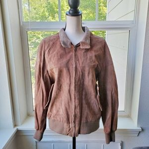 Vintage Delta 1980's Brown Bomber Jacket | 42
